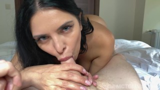 Giving hot busty MILF Kira Queen a creampie