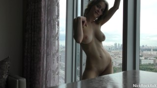 Fucked Russian actress Loren Strawberry in anal at the hotel