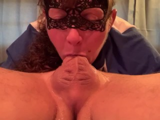 69 Throatpie!! Deepthroating and Gagging on Cock makes her Cum Hard!