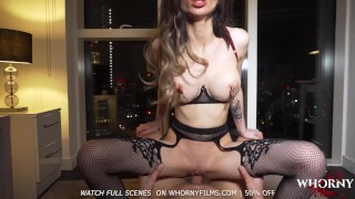 WHORNYFILMS Hot POV Anal with big tits babe in sexy lingerie