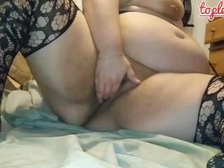 Fat girl is caught masturbating