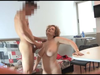 BUSTY MILF films herself banging her friend's son