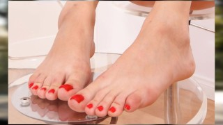 HOLLY MICHAELS {FEET-TRIBUTE} {CLOSE-UP's} {COMPILATION} {HD}
