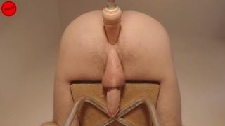 Restrained prostate orgasm