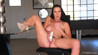 Big Titty German MILF Texas Patti Masturbates and gets Fingered