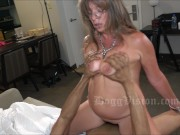 50y Squirt MILF Double Vaginal Cum Swallow