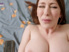 Fucking My Hot New Step Mom while She Watches Porn in my Bed - Brianna Rose