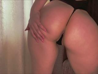 Big ass babe cums hard with a sucking vibrator