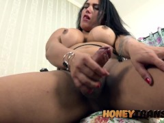 Latina Trans Ana Chloe Toys Ass And Strokes Herself To Climax