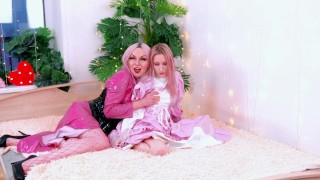 Lesbian BDSM Fetish Mistress in PVC and Pretty Slave Princess PART 1 | Sofia Sey & Arya Grander