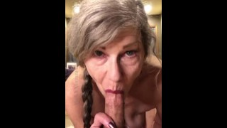 Hungry Mature MILF loves To Devour Dick BJ POV Blue Eye Contact