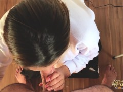 First smoking blowjob until the visit ring the bell. Should we continue where we left off? Part 1