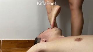 Películas pornográficas - Prev Kiffa Hard Foot Gagging Pink Toes Mouth Fuck Foot Gag Foot Worship