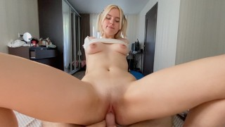 Home Sextape Horny Teen Fucked hard in all positions and creampied pussy MiraDavid