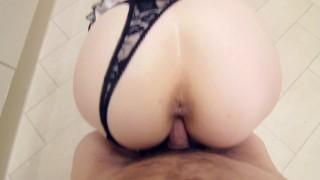 Sub Maid Sucks and Gets Fucked - Facial