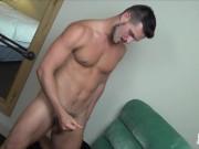 RawFuckBoys - Hung otter jock cums on bedroom mirror