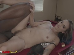 MDDS MILF Slut Stacey Railed on Pool Table by Black Dick