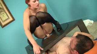 Jamey Janes Notices The Sex Table While Cleaning And Takes A Spin On It