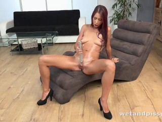 Paula Shy Gets Turned On Wetting Her Panties