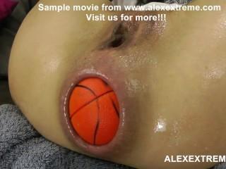 Extreme anal pornstar Hotkinkyjo push balls from ass & prolapse