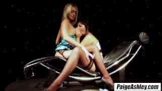 Paige Ashley smoking nice cigarette relaxes her into lesbian sex