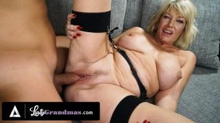 LustyGrandmas Busty Blonde Granny's Pussy Feels Fresh Again After Taking Cock Doggystyle