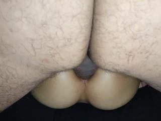 Sexo amateur anal y vaginal, de coño a culo y de culo a coño, tiembla al venirse