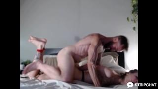 Amateur couple Slutstatis gets hog tied spanked and fucked in bdsm session