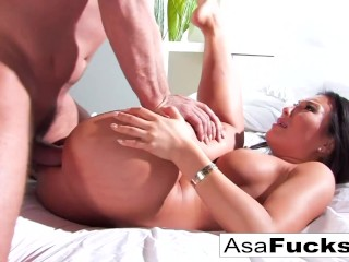 Busty Asian Babe Takes A Cum Shot In Her Ass