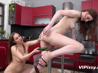 Racy Redheads Enjoy Pussy And Piss Play