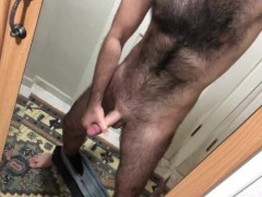 hairy man magnify cock in front of the mirror hairy man magnify cock in front of the mirror