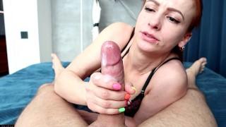 POV Perfect redhead beauty rides Cock & Sucks dick / Fucked in Hotel