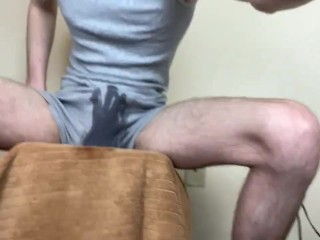 Twink Pissing His Boxer Briefs