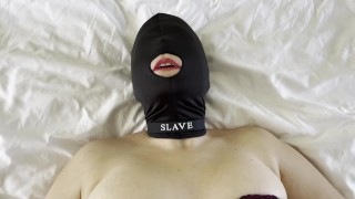 amateur wife fucking stranger while husband is out at work wearing gimp mask