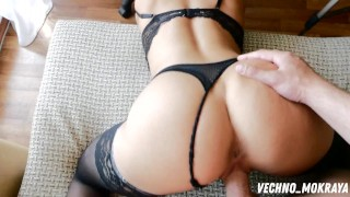 Stepsister shows off her new dress and jumps on a hard cock