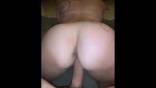 Taking Stepbro Cock Between Her Tits