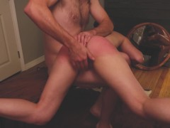 Brodie happily consents to an over the knee, open hand, ass spanking and fingering by Aiden