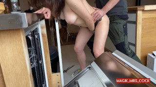 PLUMBER FLASHING 2 hot milf want handyman's cock after teasing naked for him