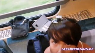 Public-Schlampe extrem! Zug wird zum LIVE-PORNOKINO!
