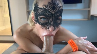 Tinder date ends with romantic deepthroat and ass fuck Masked model Saliva Bunny