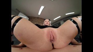 Blonde Babe Marilyn Sugar As YUMI Comes FROM DARKNESS To Seduce You VR PORN