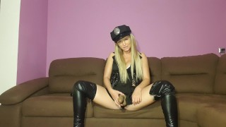 Mistress play with slave . BDSM