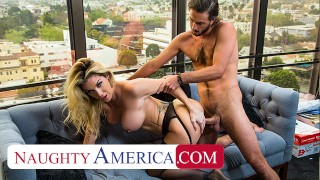Naughty America Badass boss babe Kayla Paige has her way with an employee she never even knew work