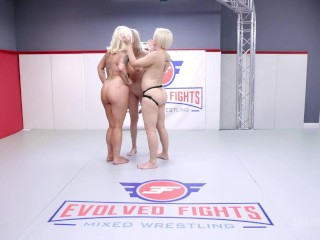 Lesbian MILF Threeway Wrestling As Helena Locke Fights 2 Women With Face Sitting Pussy Eating