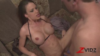 ZVIDZ Busty Mckenzie Lee Cowgirl Pussy Drilled After BJ