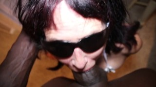 Inexperienced 66y Granny receives extreme face fuck from BBC