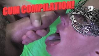 厚厚的面部和口腔 Creampies PILATION!她的脸上和嘴里都有巨大的负担!