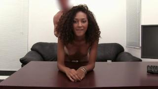 Ebony Coed Olivia Facialed On Camera For 1st Time!