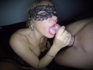 Dutch blonde babe blow and rimming job fucked hard in both holes and big load on her face