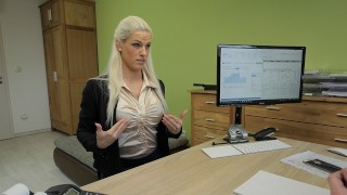 LOAN4K Sensual business lady needs extra money from the local bank